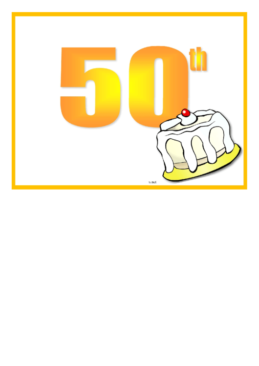 50 Birthday Party Flyer Template