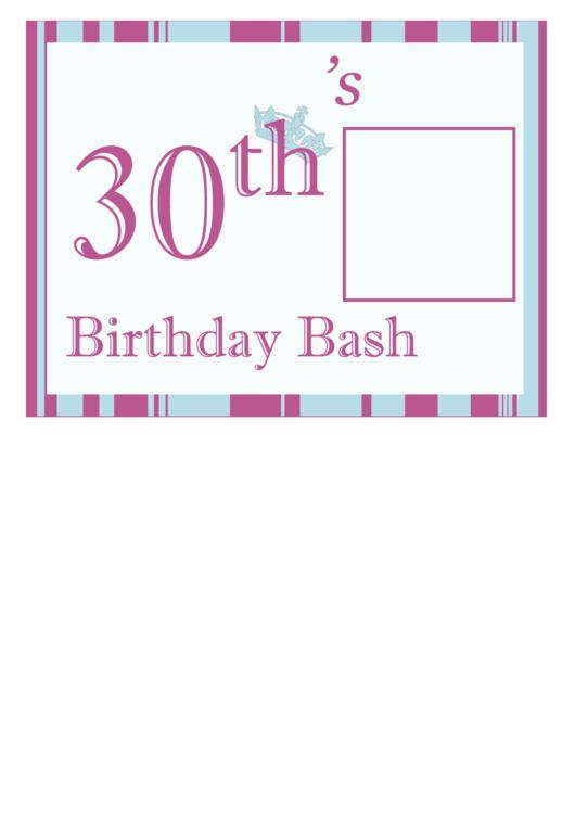 30th Birthday Flyer Template