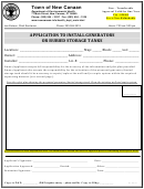 Application To Install Generators Or Buried Storage Tanks - Town Of New Canaan Department Of Environmental Health