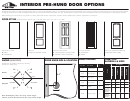 Hpm Doors Interior Pre-hung Door Size Chart And Order Form