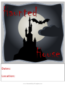 Haunted House Flyer Templates