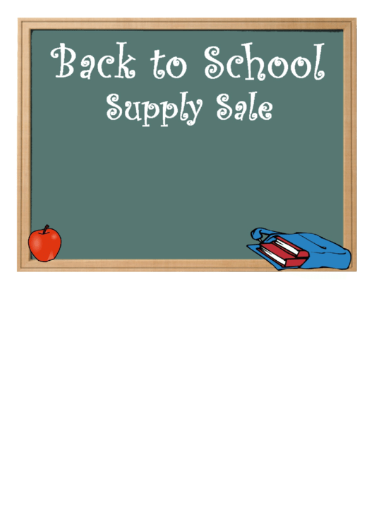 Back To School Sale Flyer Template