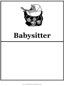 Babysitter Flyer Templates
