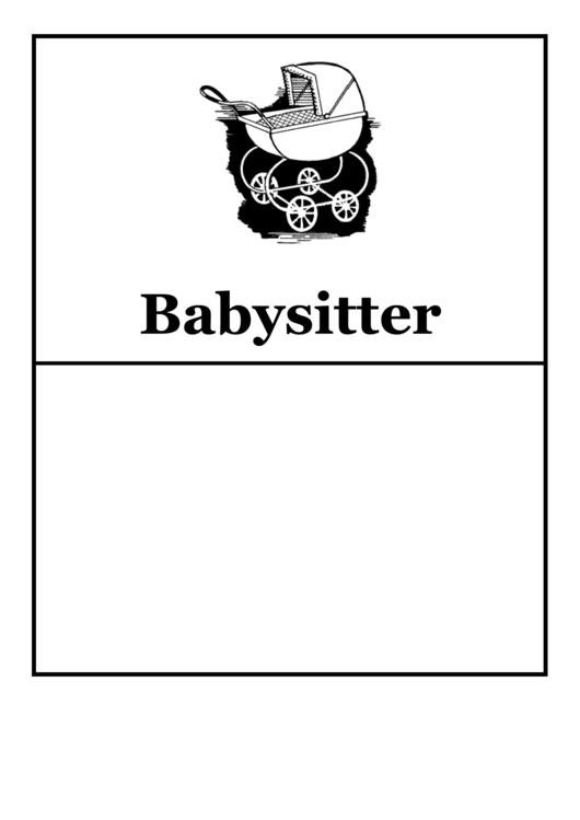 Babysitter Flyer Templates Printable pdf