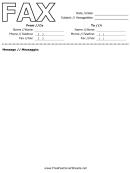 Italian Fax Cover Sheet