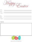 Happy Easter Fax Cover Sheet