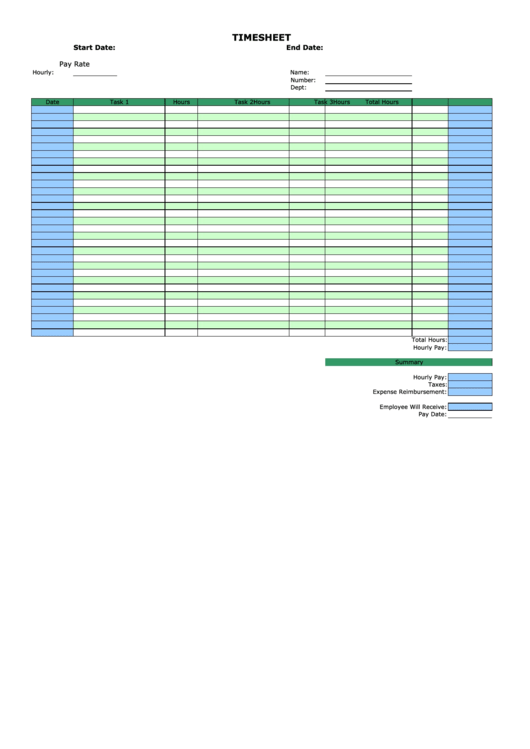 4 timesheet spreadsheet templates free to download in pdf