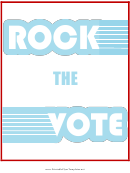 Rock The Vote Flyer Template