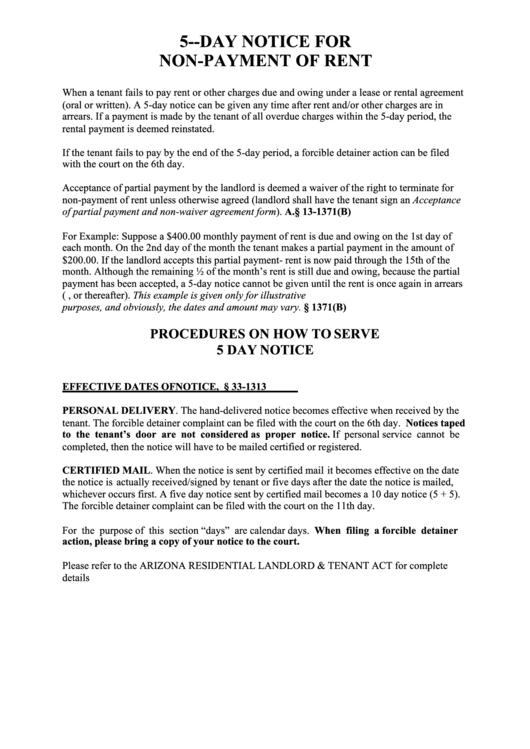 fillable 5 day eviction notice printable pdf download