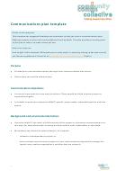 Communications Plan Template