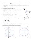 Practice Test - Circle Geometry
