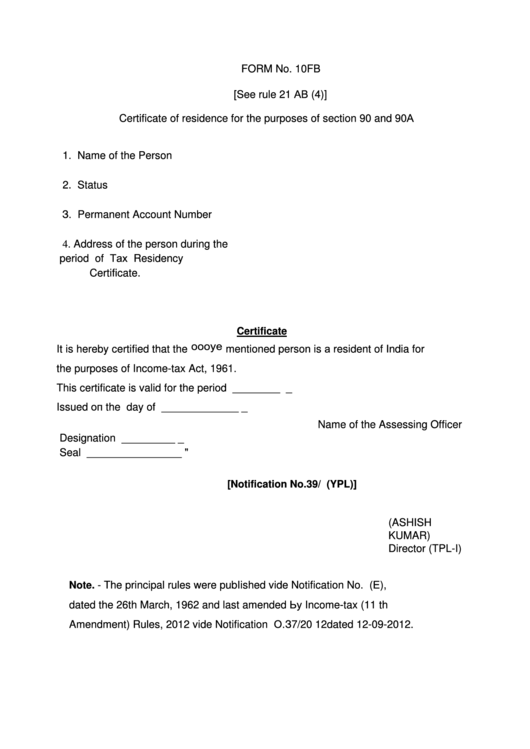 Top 17 Residency Certification Form Templates free to download in ...