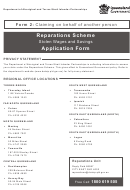 Form 2: Claiming On Behalf Of Another Person Application Form