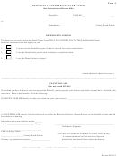 Form 4 -defendant's Answer/counter Claim