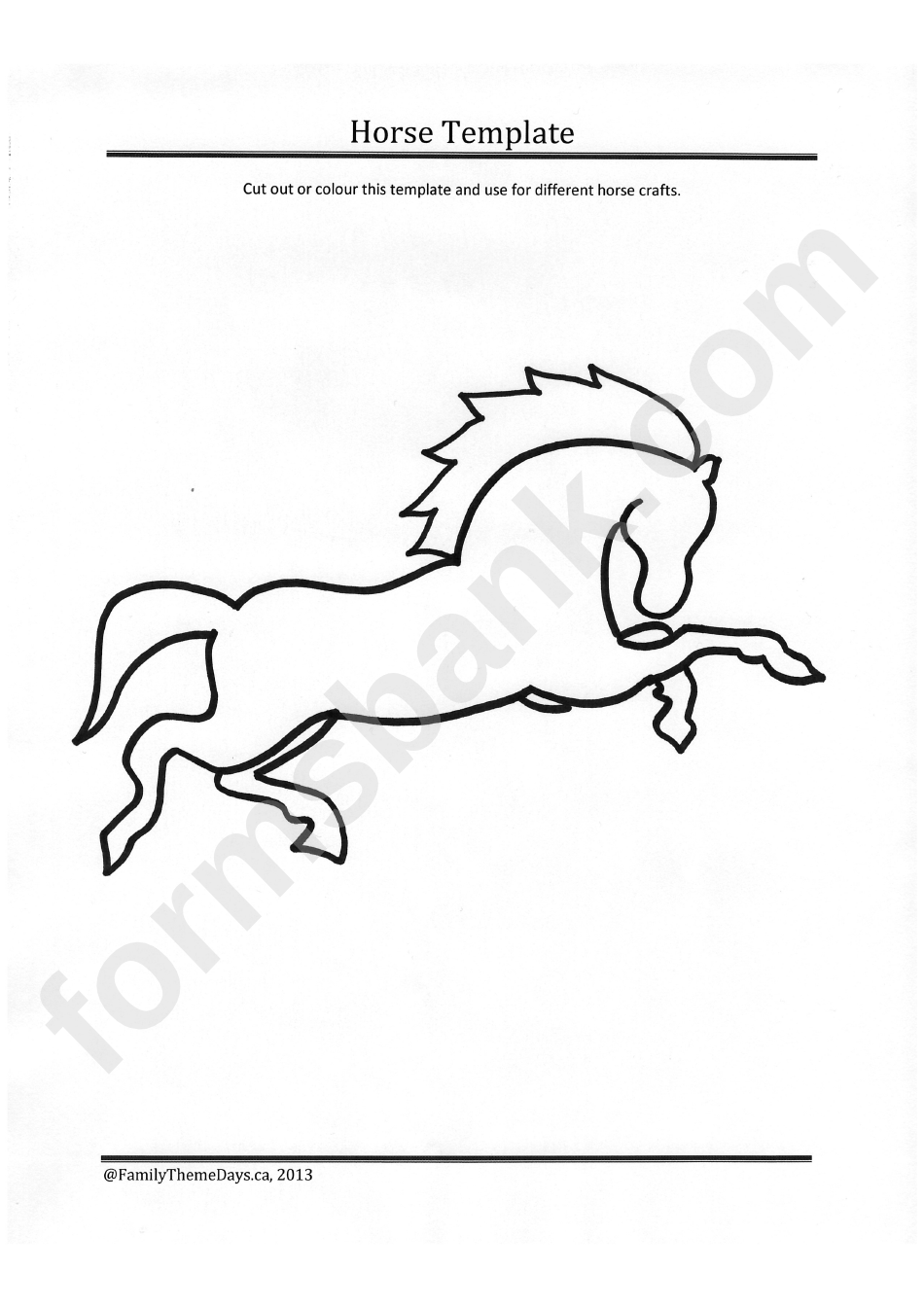 Running Horse Template Printable Pdf Download