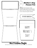 Mother's Day Cut-out Flower Pot