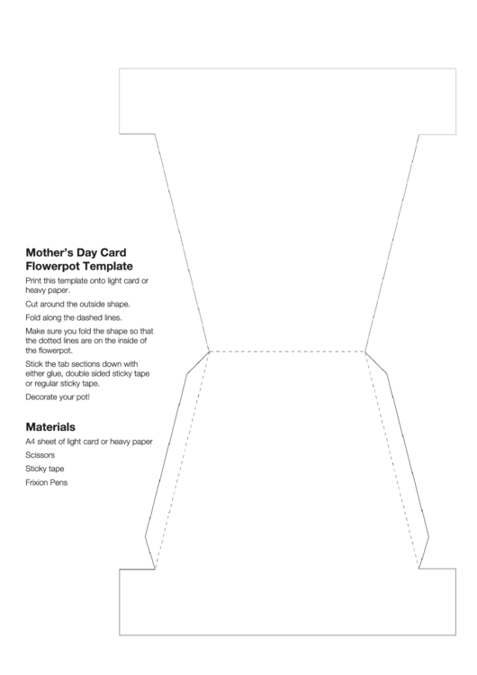 Mother's Day Flower Pot Template