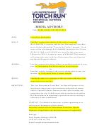 Media Advisory Template - Torch Run Ontario