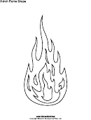 8-inch Flame Template