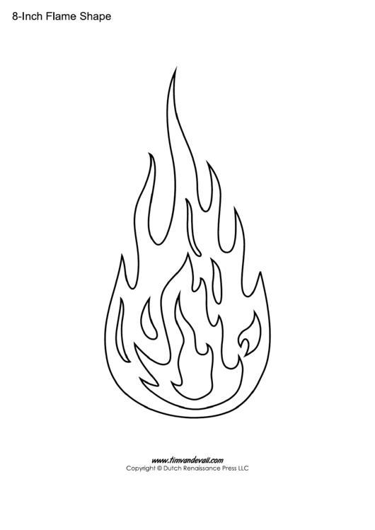 8 Inch Flame Template Printable Pdf
