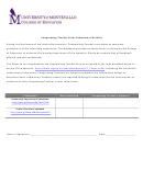 Cooperating Teacher Form Submission Checklist