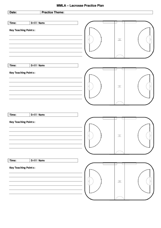 Mmla lacrosse practice plan printable pdf download for Volleyball practice plan template