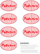 Popcorn Bag Label Templates