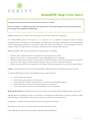 Group Charter Template - Sample