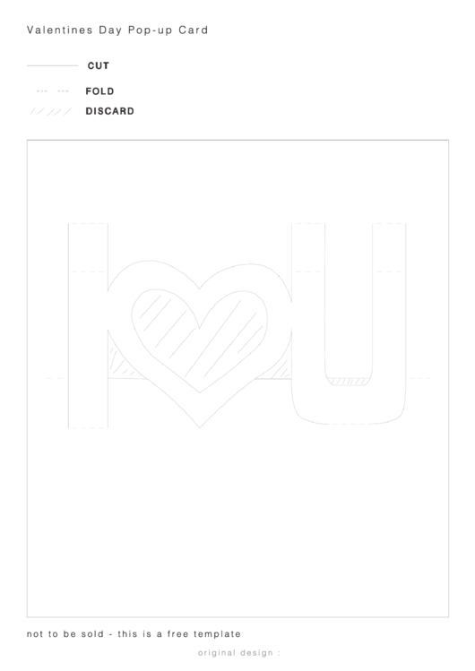 Valentines Day Pop-Up Card Template Printable pdf