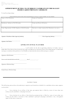 Aw4-16 - Appointment Of Poll Watcher By Candidate On The Ballot Or Declared Write-in Candidate - Texas Secretary Of State