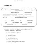English/spanish Grammar Worksheet