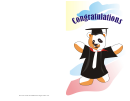 Graduation Card With Panda Template