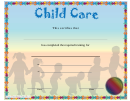 Child Care Training Certificate Template