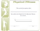Physical Fitness Scout Certificate Template