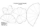 Foldable Ornament Template