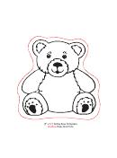 teddy bear template printable pdf download