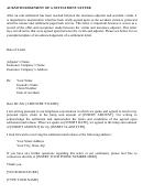 Acknowledgement Of A Settlement Letter - Sample