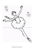 Ballerina Coloring Sheet