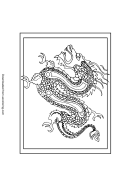 Dragon Chinese New Year Coloring Sheet