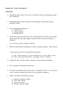 English Language Worksheet