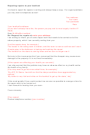 Sample Letter - Reporting Repairs To Your Landlord