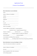 Application Form (letter Of Accreditation)
