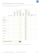 Debt Management Worksheet Template