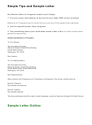 Simple Tips And Sample Letter To Congress Template