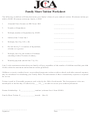 Family Share Tuition Worksheet