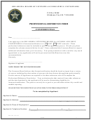 Obladc Form 205 Oklahoma Board Of Licensed Alcohol/drug Counselors - Professional Reference Form