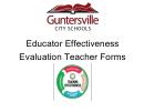 Educator Effectiveness Evaluation Teacher Forms