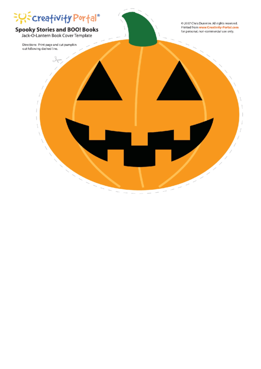 Jack-o-lantern Book Cover Template