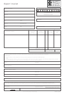 Cpi025 Export Invoicee Template