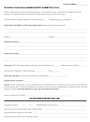 Manuscript Submission Form